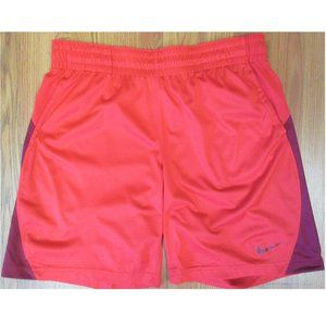 NIKE DRI-FIT POLYESTER MESH ATHLETIC SHORTS RED